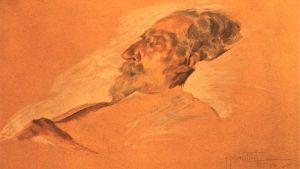 Giuseppe Verdi på sin dödsbädd. Skiss av Adolfo Horenstein