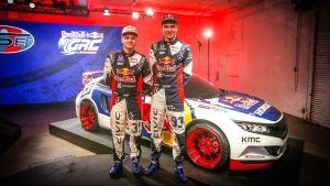 Joni Wiman och Sebastian Eriksson.