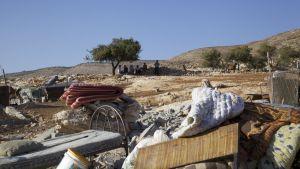Husrivning 20.08.2014 i byn Tawayel på ockuperade Västbanken