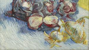 Punakaaleja ja sipuleita, maalaus; Red cabbages and onions