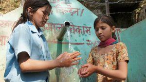 Rent vatten i Nepal