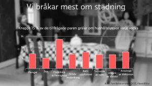 Statistik över vad det grälas om i de finländska hemmen.