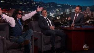 Tommy Wiseau, James Franco och Jimmy Kimmel.