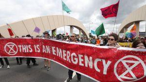 Extinction Rebellion protest i Australien.