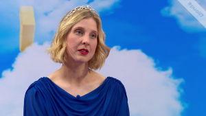 Kirjailija Anu Kaaja Puoli seitsemän -ohjelmassa