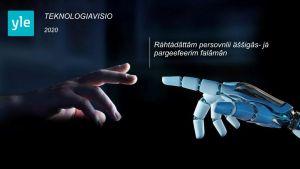 Kuvassa on teknologiavision kansikuva inarinsaameksi käännettynä.