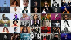 Kollaasikuva kaikista vuoden 2020 peruttujen Euroviisujen kilpailijoista