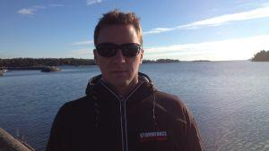 Oskar är talesman för de nya ägarna till Söderskär fyr.