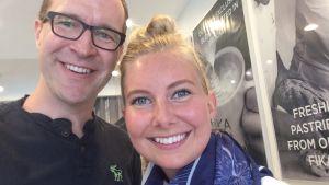 """Chriso Vuojärvi samtalade med Annemarie Hjorth i sin podcast """"Möten i New York"""""""