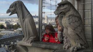 Familjen Knuuttila i Paris.