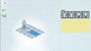 Skärmbild på spelet Lightbot Jr
