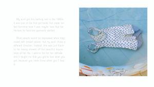 En sida ur Ida Taavitsainens bok The memory of my wardrobe.