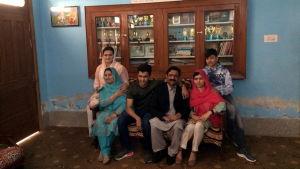 Malala Yousafzais familj i hemstaden Mingora.