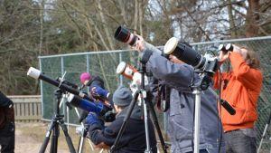 Solförmörkelsen år 2015 lockade många nyfikna.