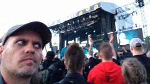 Lasse grönroos på Rammsteins konsert i Vanda 9.6. 2017.