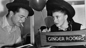 Billy Wilder ja Ginger Rogers Kadettiheila-elokuvan kuvauksissa. Ruutukaappaus tv-dokumentista Billy Wilder – kukaan ei ole täydellinen.