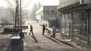 En vy av Grankulla centrum på 1980-talet.