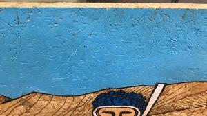 Målning på träfiberskiva