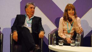 Jim Carter ja Phyllis Logan Edinburghisssa the Guardianin TV-festivaaleilla
