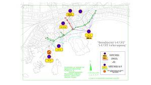 Föreslagna trafikarrangemang med anledning av regattan i Hangö 2012.