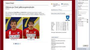 Sergej Glinca och Andrej Orel förlänger med HIFK