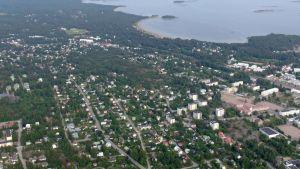 flygbild från Hangö