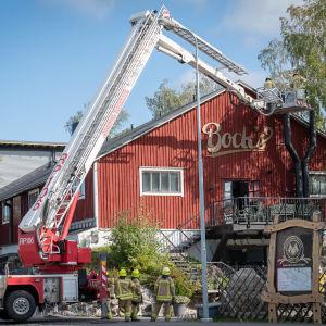 Brand vid Bocks bryggeri i Vasa på frdagen.
