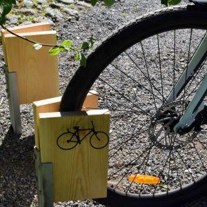 Ett cykelställ