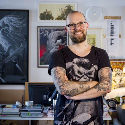JP Ahonen sarjakuvataiteilija