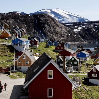 Grönlantilaisia taloja.