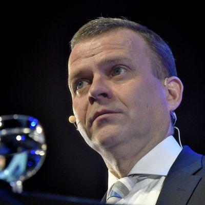Kokoomuksen puheenjohtaja Petteri Orpo oppositiopuolue kokoomuksen puheenjohtajapäivillä Järvenpäässä lauantaina 30. marraskuuta 2019.