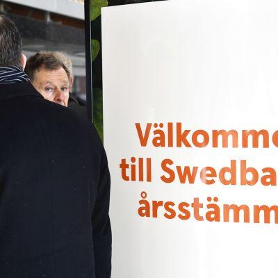 Swedbankin yhtiökokous maaliskuussa 2019.