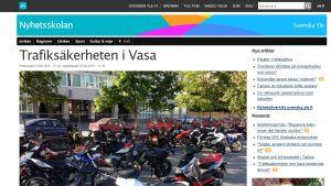 En skärmdump av en Yle Nyhetsskolan-nyhet.
