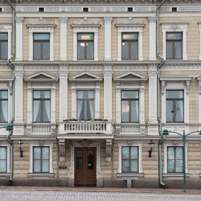 Korkeimman oikeuden rakennus Helsingissä Kauppatorilla.