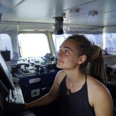 Sea-Watch-aluksen kapteeni Carola Rackete.