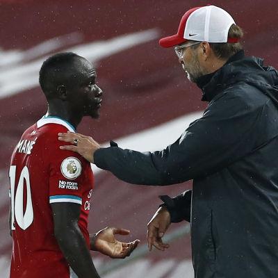 I måndagens Premier League-match mot Arsenal blev Sadio Mané utbytt på slutet.