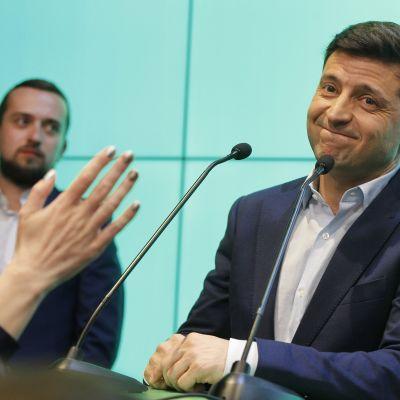 Politiikassa kokematon Volodymyr Zelenskyi voitti Ukrainan presidentinvaalit toukokuussa.