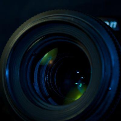 Kameralins i närbild