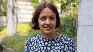 Porträtt på Julia Velkova.