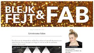 Ellen Strömbergs blogg Blejk, fejt och fab blev utnämnd till årets blogg 2016.