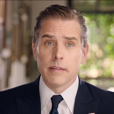 Hunter Biden på en bild tagen i samband med Demokraternas partikonferens som hölls huvudsakligen per video i augusti 2020.