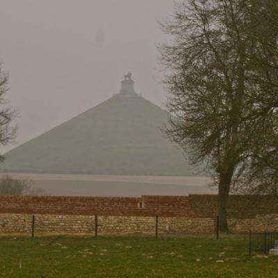 La Butte du Lion sedd från Hougoumont