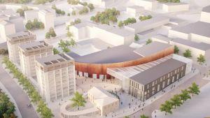 YIT:s planer för Garvartorget i Lojo centrum.