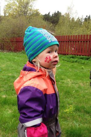 Barn med ansiktmålning