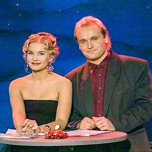Erotico-tico ohjelma vuonna 1992. Juontajina Marjukka Karttunen ja Janne Porkka.