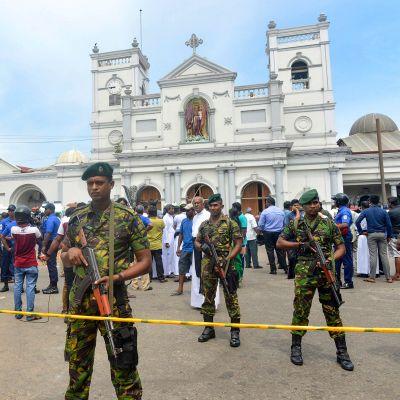 St Anthonyn  kirkko Kochchikade, Colombo, Sri Lanka 21. huhtikuuta