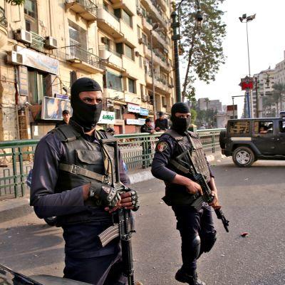 Egyptin turvallisuusjoukkoja.