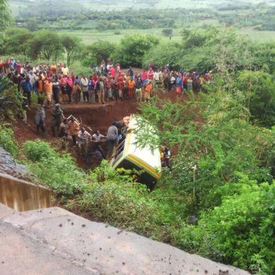 Bussolycka i Tanzania.