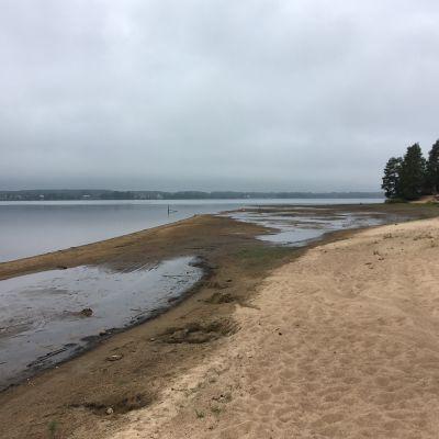 Kuortaneenjärvi on ennätyksellisen alhaalla.