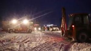 Utredningen vid olycksplatsen beräknas ta minst en vecka